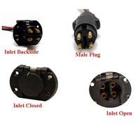 Trolling motor plug receptacle for Minn kota trolling motor plug